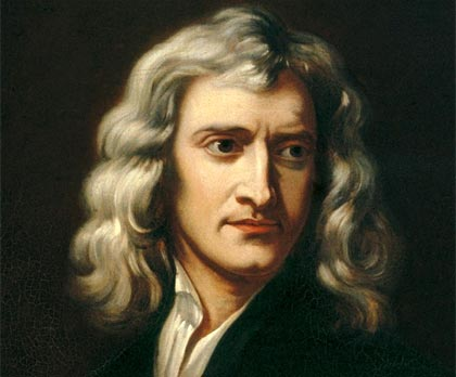 Newton (recreación de un retrato Godfrey Kneller, 1689)